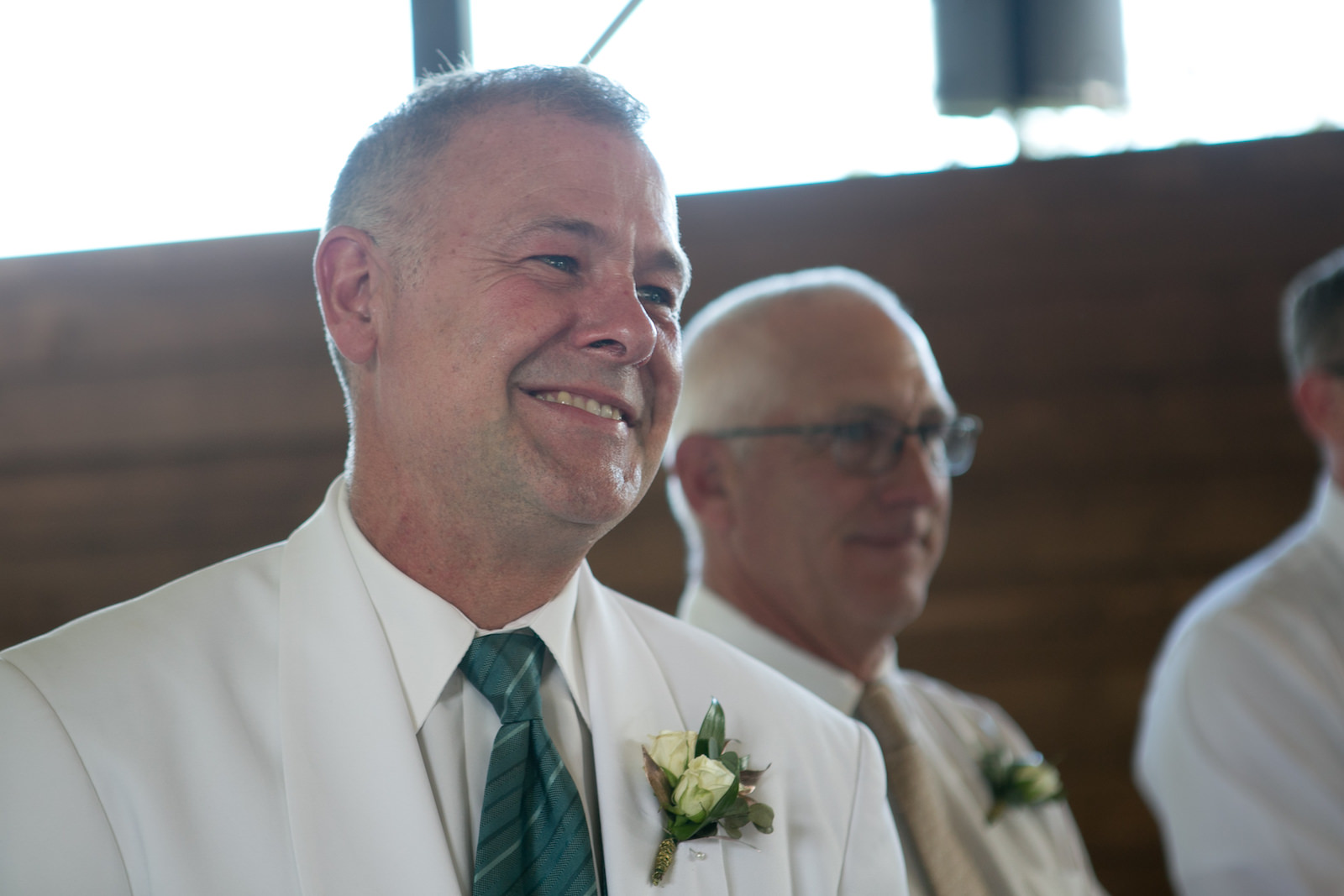Tampa Groom Emotional Reaction to Bride Walking Down the Wedding Ceremony Aisle | Wedding Photographer Carrie Wildes Photography