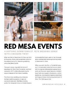 Red Mesa Events   Best Downtown St. Pete Wedding Venues Digital Magazine