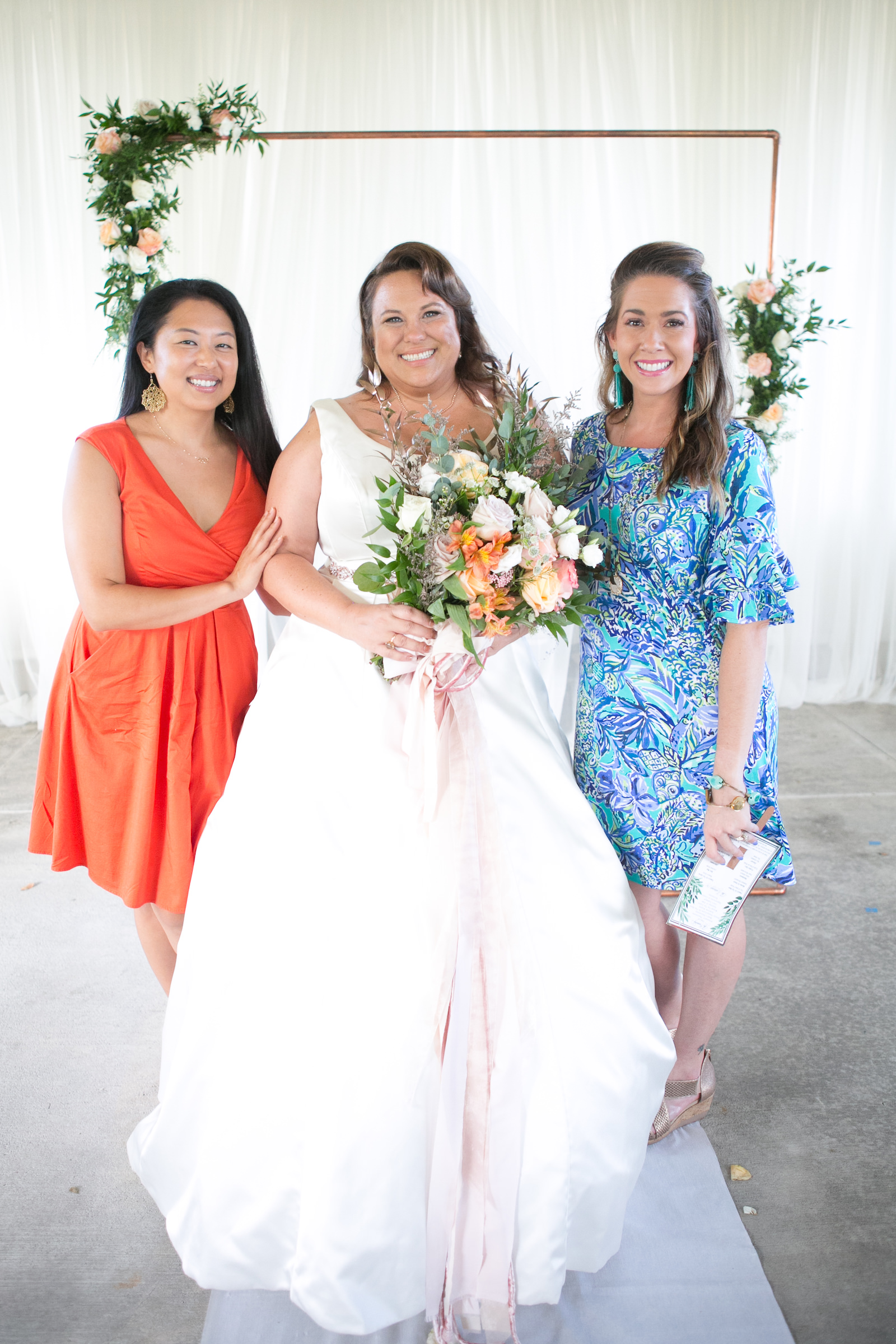 Sarah Bubar of Sarah Bubar Designs Wedding Portrait with Anna Coats and Amanda Sobel | Wedding Photographer Carrie Wildes Photography | Tampa Wedding Hair and Makeup Michele Renee the Studio | Wedding Dress Truly Forever Bridal