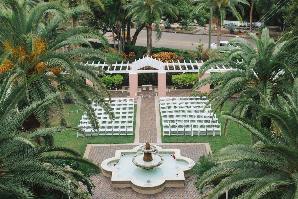 Courtyard Romantic Wedding Ceremony Venue St. Petersburg Hotel The Vinoy Renaissance