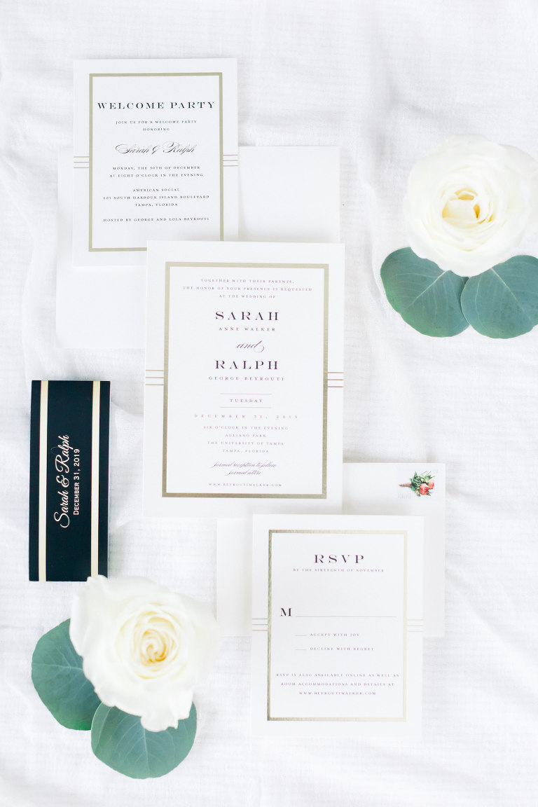 Elegant Classic White and Gold Wedding Invitation Suite | Wedding Photographer Shauna and Jordon Photography