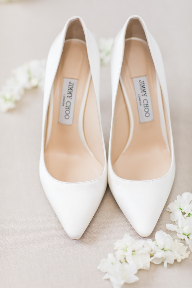 Pointy Toe Jimmy Choo Designer Bridal Heels | Wedding Shoe Shot
