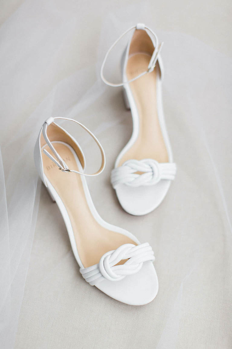 Classic White Wedding Shoes, Open Toe Bridal Shoes
