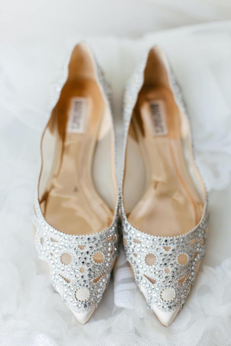 Florida Wedding Shoes, Crystal Embellished