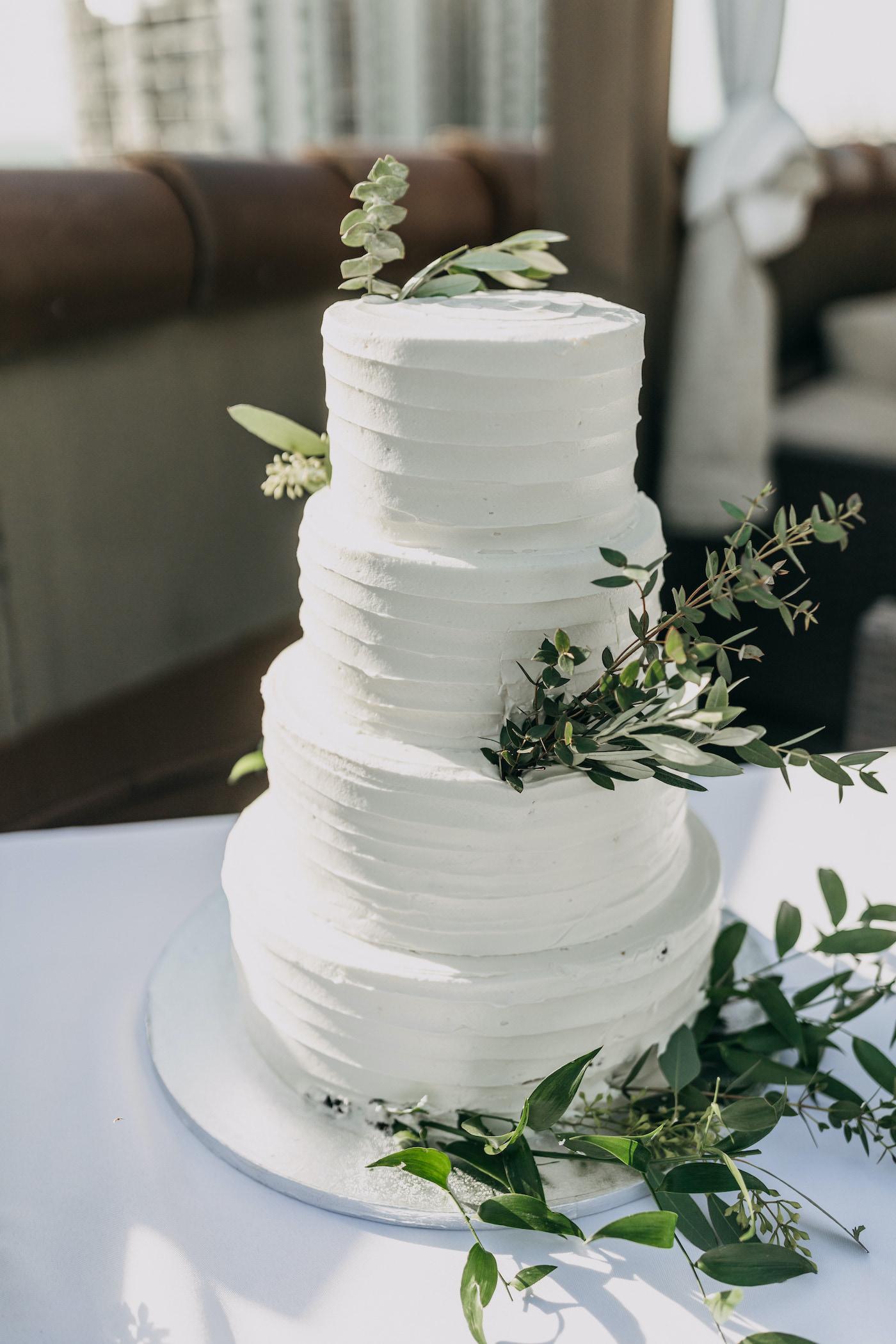 Classic Four Tier Wedding Cake, White Textured Publix Wedding Cake