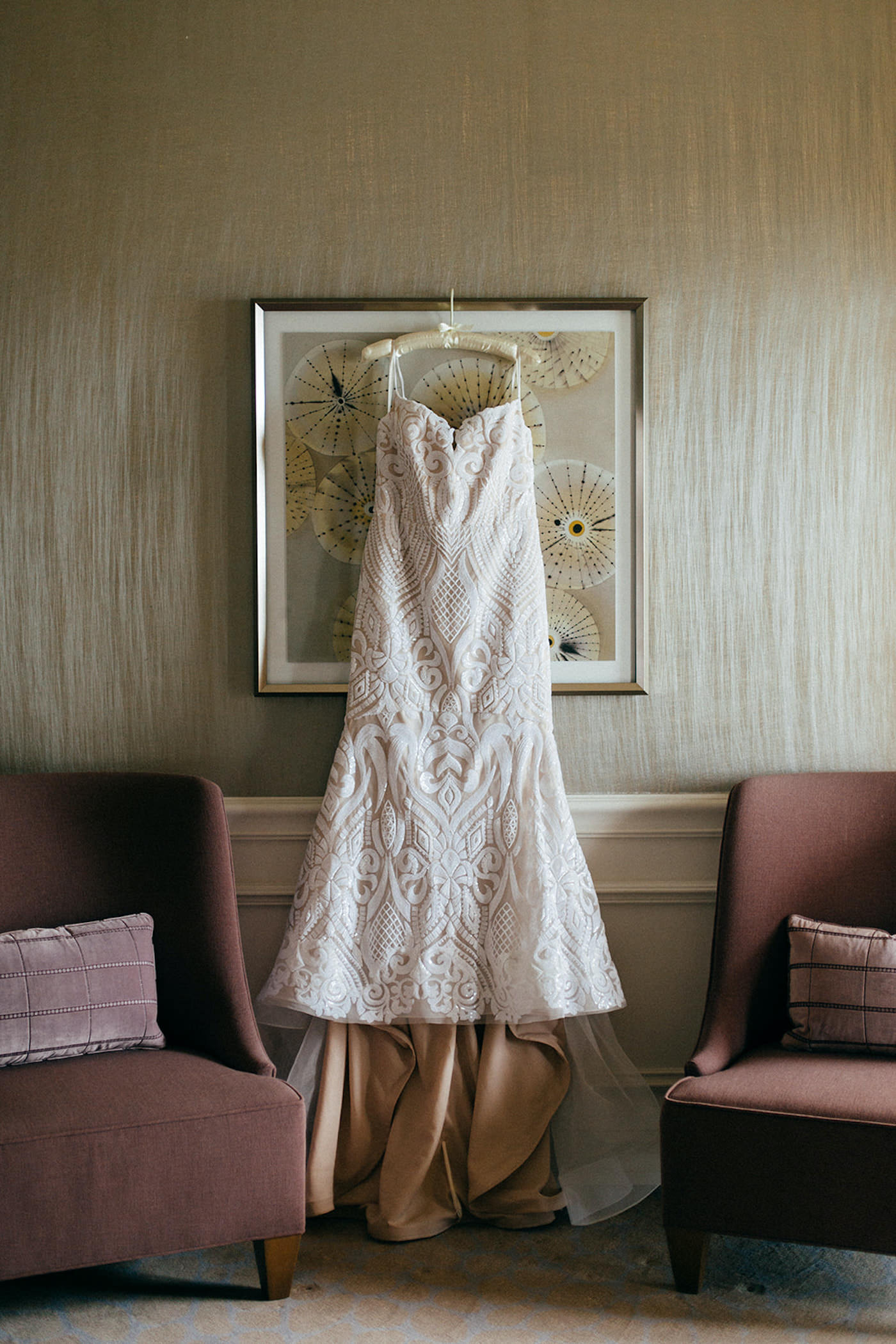Romantic Hanging Florida Wedding Dress, Strapless Hayley Paige White and Ivory Wedding Dress with Lace Overlay Detailing