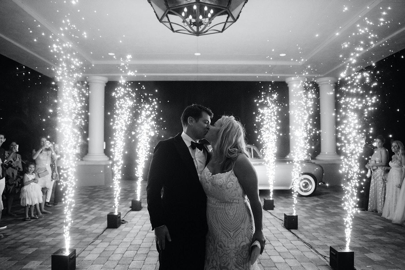Sparkler Fountain Wedding Exit