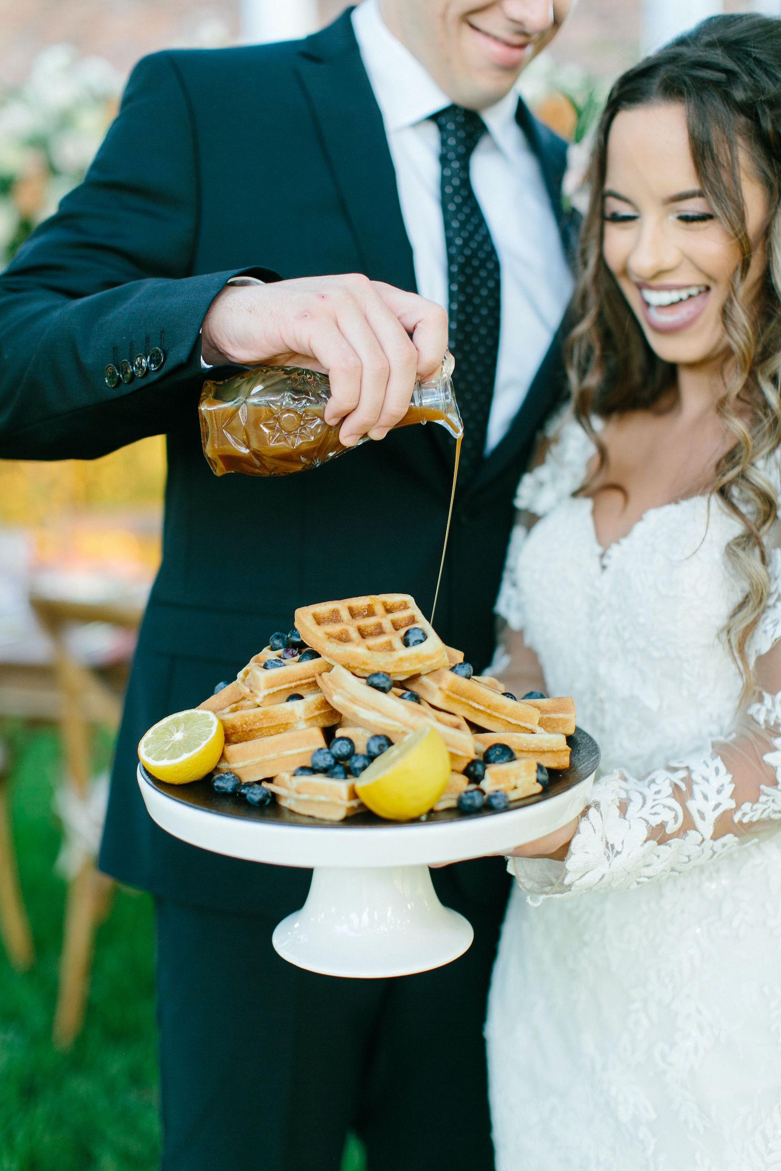 Styled Shoot Brunch Wedding Waffle Tower Breakfast