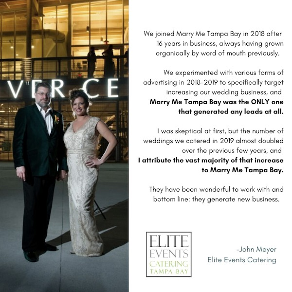Marry Me Tampa Bay Testimonial and Reviews