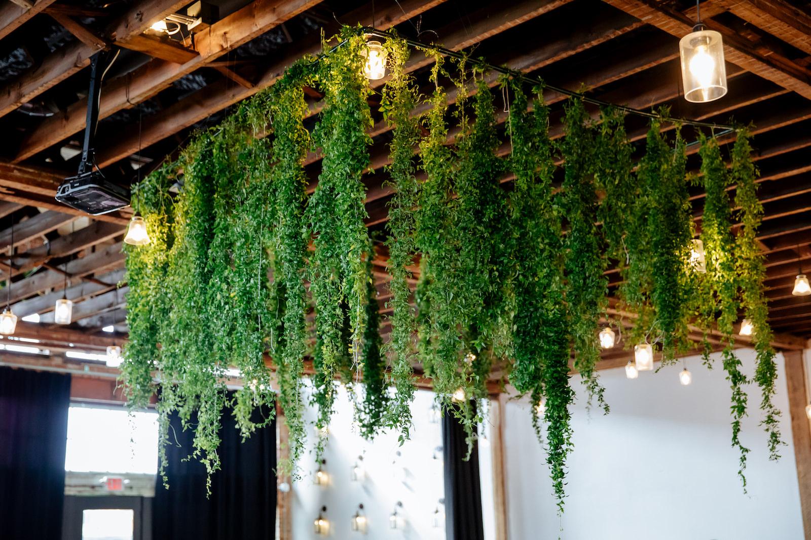 Suspended Greenery Garland Ceiling Installment Wedding Floral Chandelier