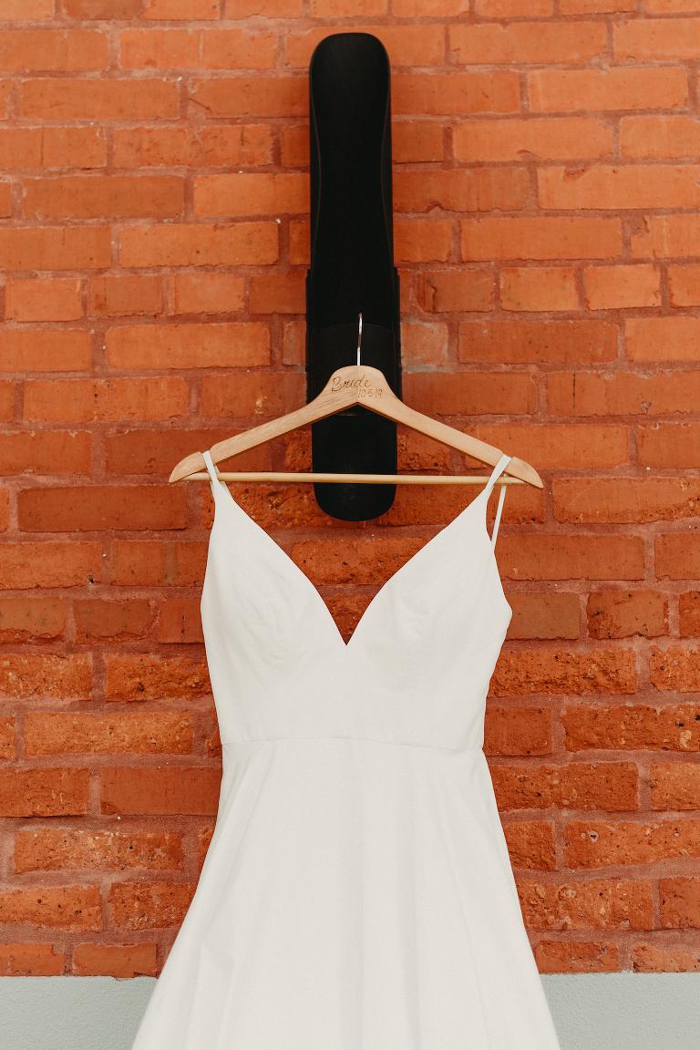 Kate Mc Donald Wedding Dress Bride Hanger Shot