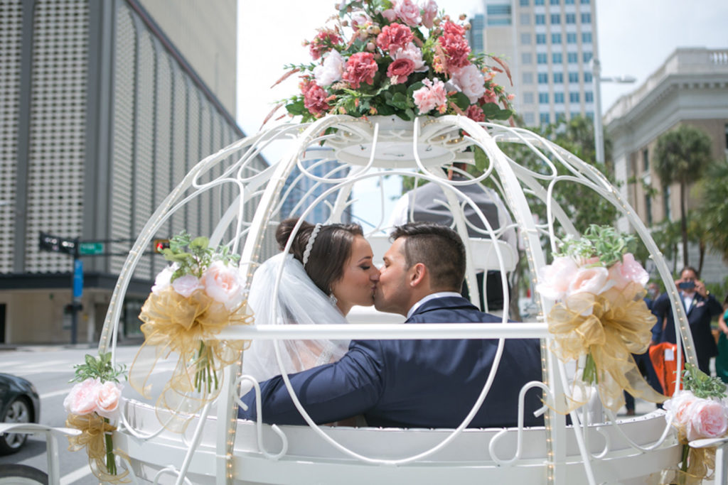 Bride and Groom Horse Drawn Carriage Rise Ceremony Send Off | Cinderella Carriage Wedding Buggy