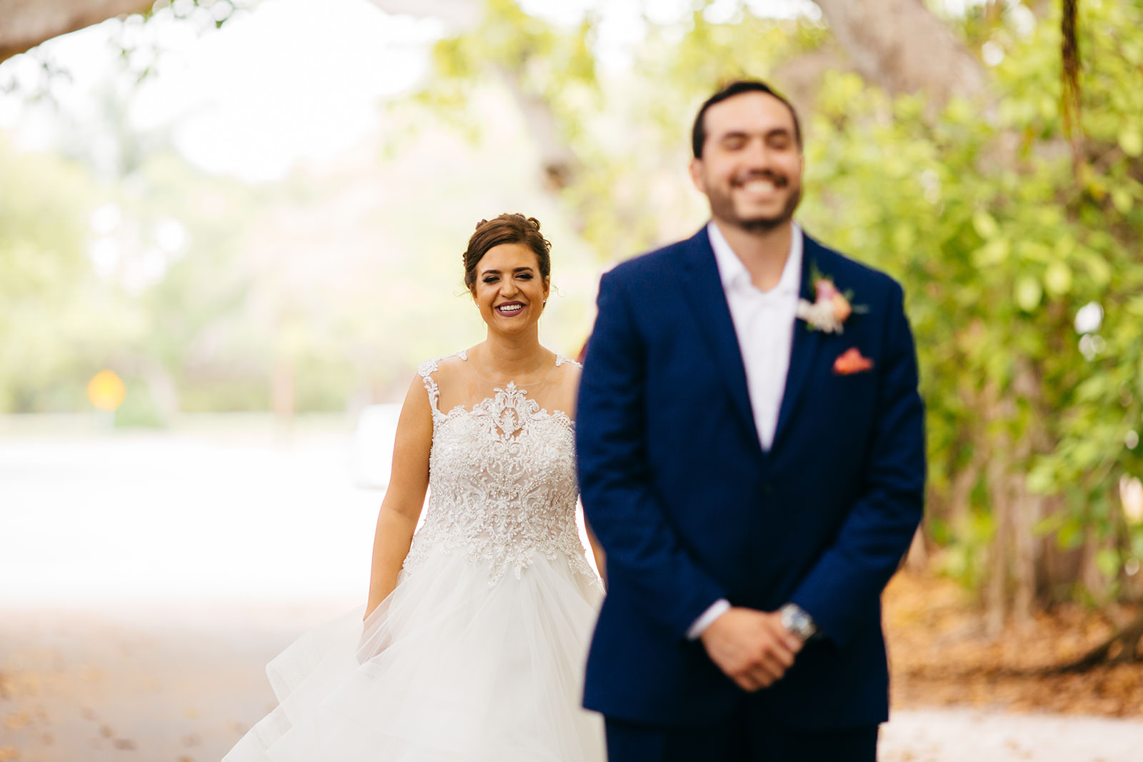 Tampa Bride and Groom First Look Photo