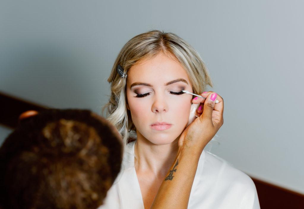 Bride Getting Ready | Wedding Makeup Bridal Natural Smokey Eye by Tampa Hair and Makeup Artists Femme Akoi Beauty Studio