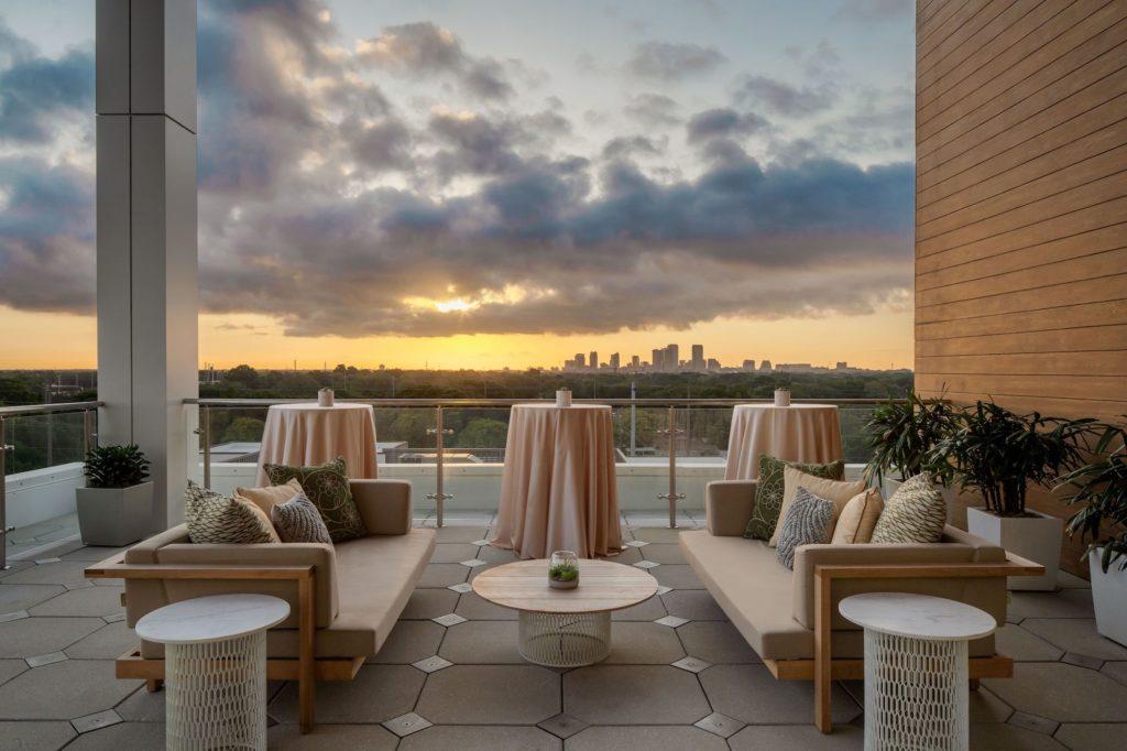 Aloft-Element Tampa Midtown | New Tampa Bay Wedding Venue | Skydeck Terrace