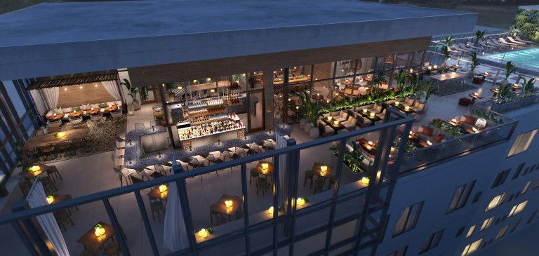 Sal y Mar Aerial   Aloft Element Midtown Tampa