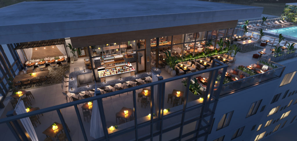 Sal y Mar Aerial | Aloft Element Midtown Tampa