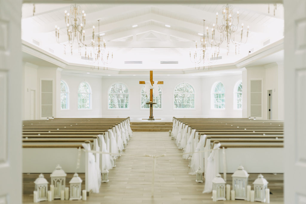 Elegant Traditional Wedding Safety Harbor Ceremony Venue Harborside Chapel | Tampa Bay Wedding Photographer Amber McWhorter Photography