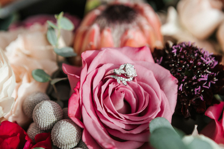 Romantic Florida Engagement Ring with Floral Design | Florida Wedding Florist: Posies Flower Truck