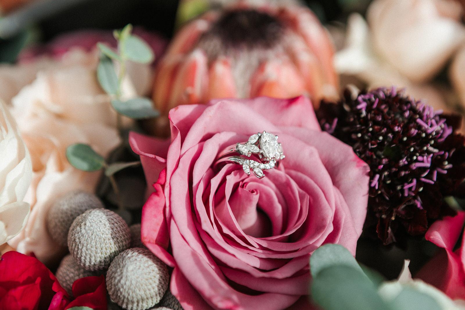 Romantic Florida Engagement Ring with Floral Design | Florida Wedding Florist: Posies Flower Truck