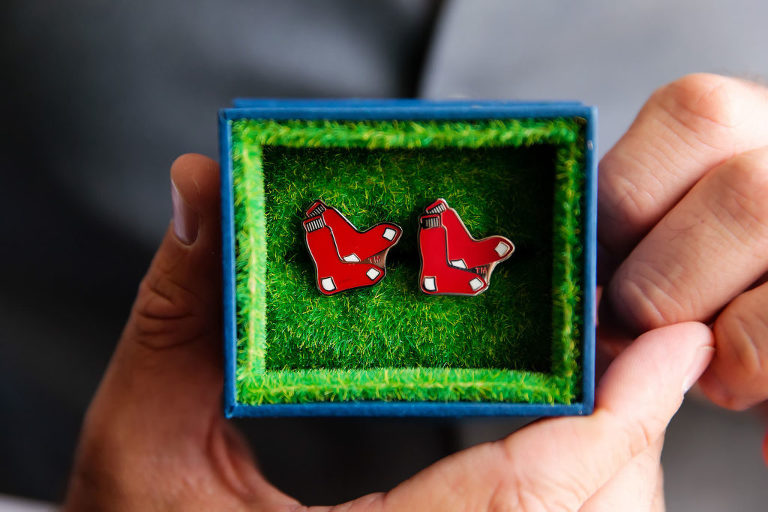 Groom Gift Red Sox Cuff Links