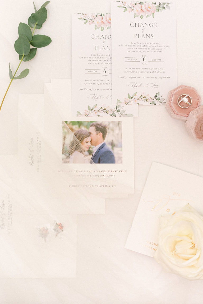 Coastal Romantic Wedding Invitation Suite and Save the Date Card