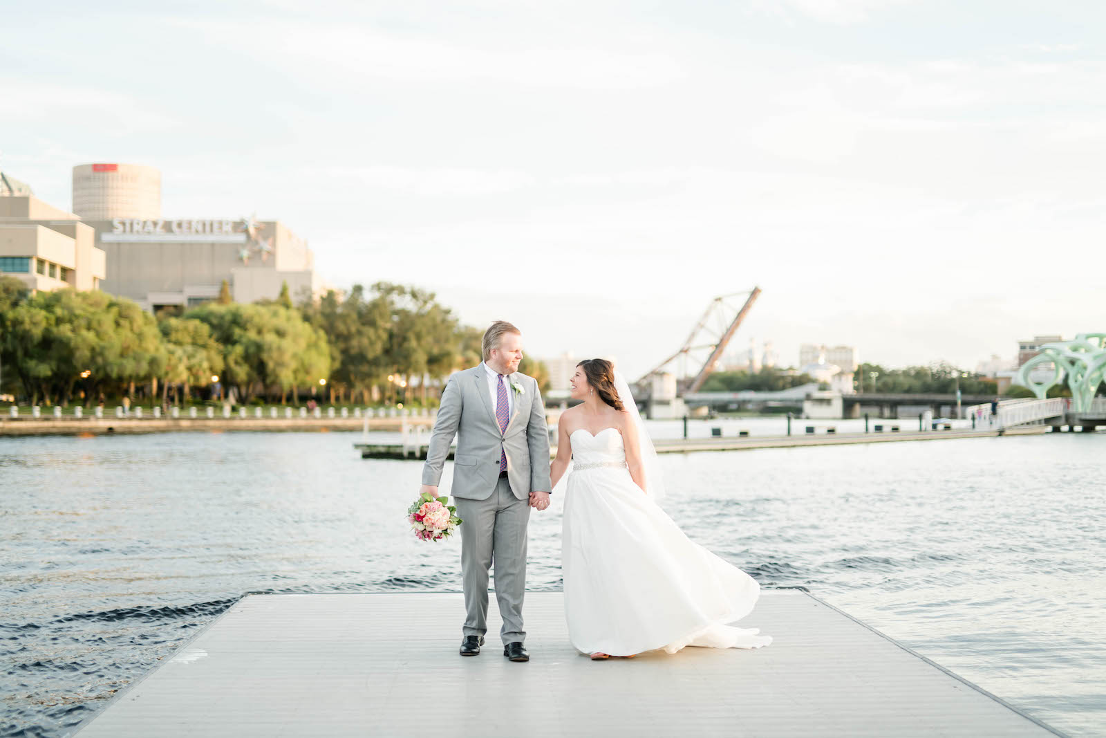 Tampa Bay Bride and Groom Waterfront Photo