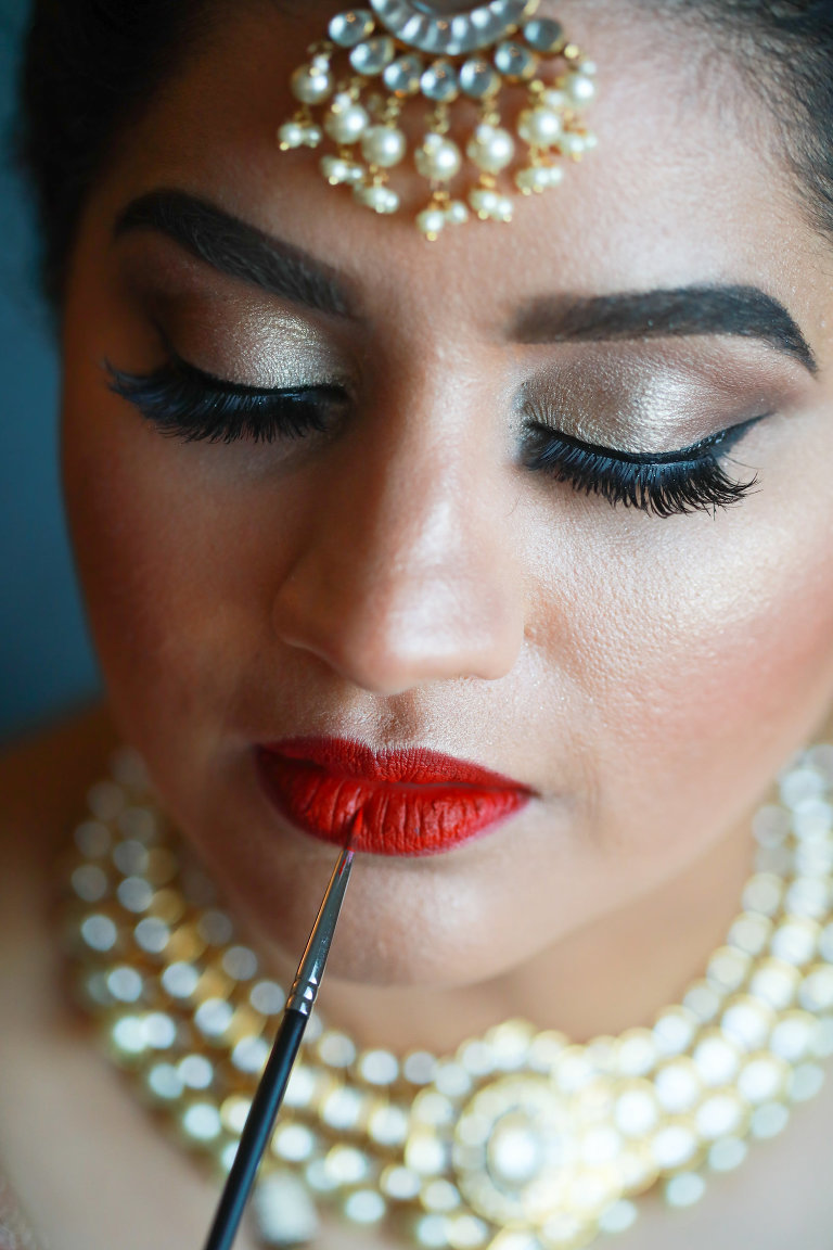 Tampa Clearwater Indian Wedding Bride Jewelry | Wedding Makeup by Michele Renee The Studio