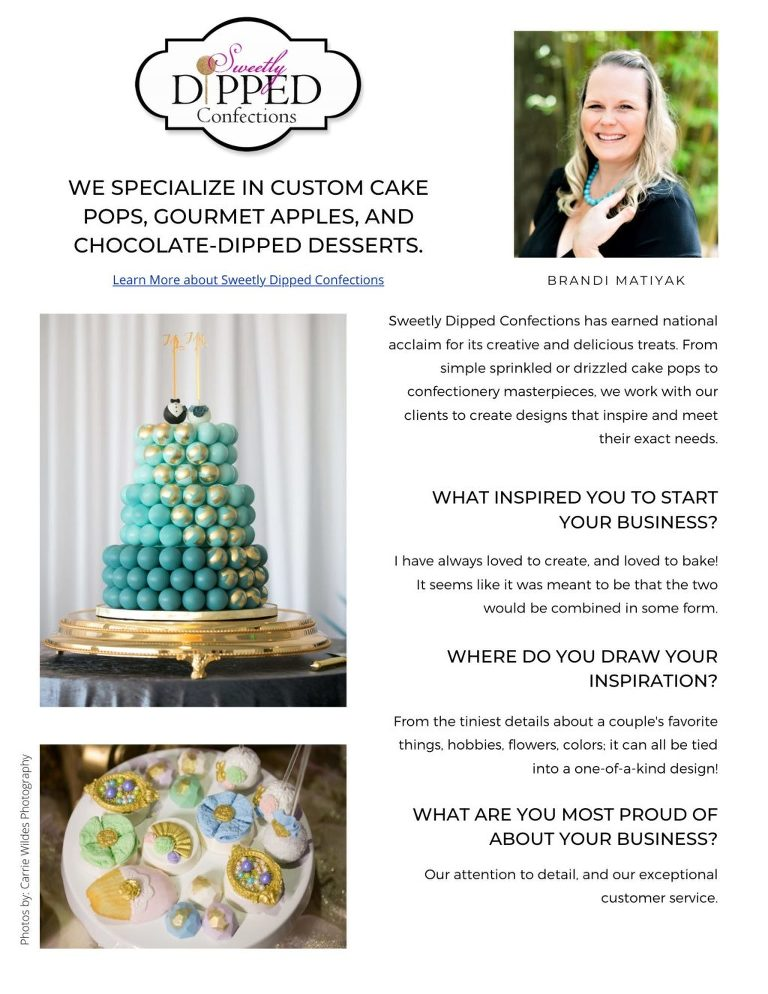Who's Who Tampa Bay Wedding Cake Bakers | Best Wedding Cake Sweetly Dipped Confections