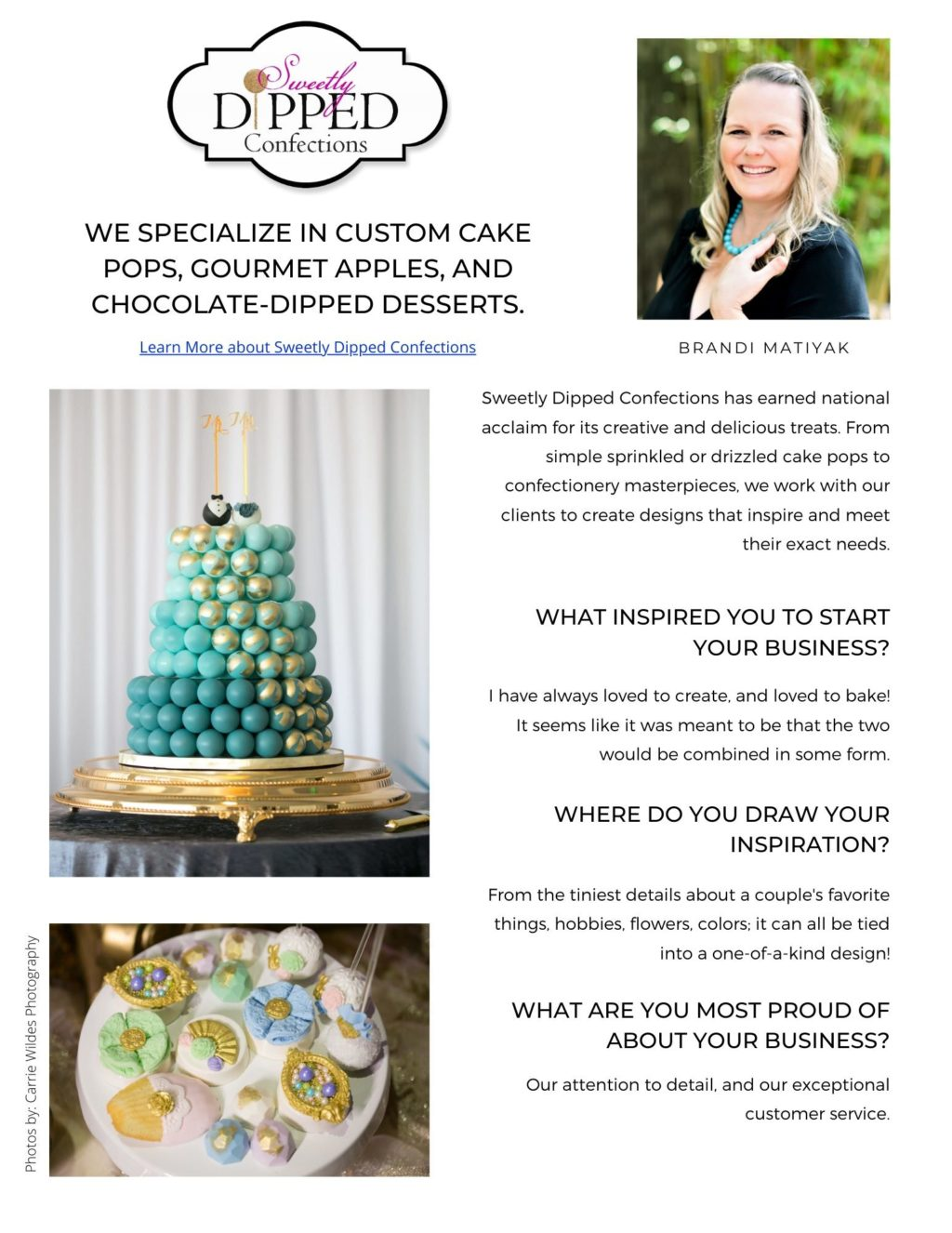 Who's Who Tampa Bay Wedding Cake Bakers   Best Wedding Cake Sweetly Dipped Confections