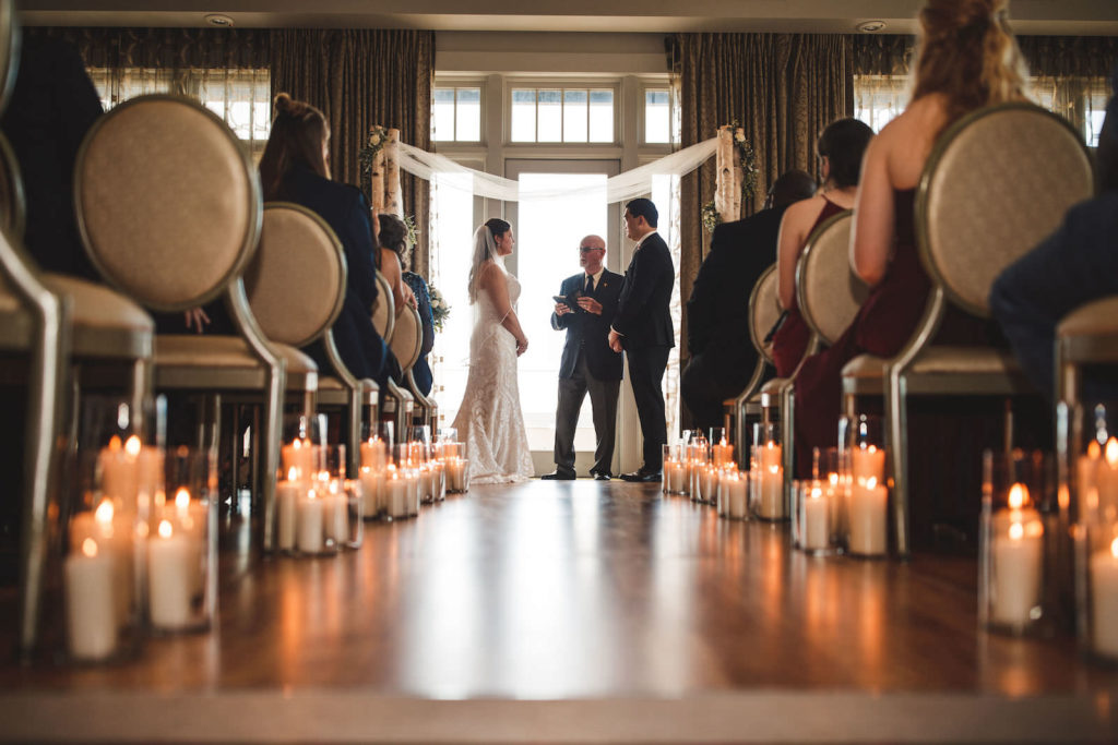 Tampa Bride and Groom Exchanging Vows During Wedding Ceremony | St. Pete Wedding Venue The Birchwood