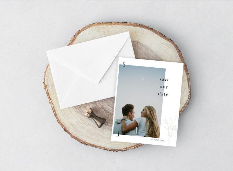 Save-the-Date Rustic Boho Wedding Invitation Stationery Ideas | Paperlust