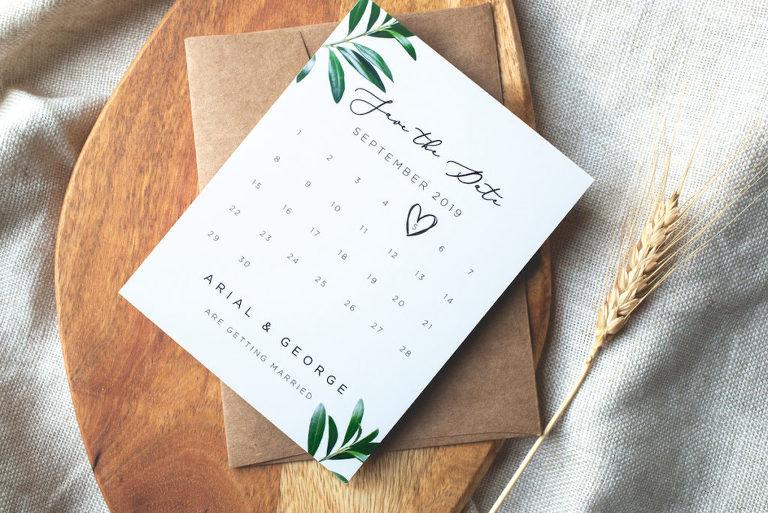 Save-the-Date Rustic, Boho Greenery Garden Wedding Invitation Stationery Ideas | Paperlust