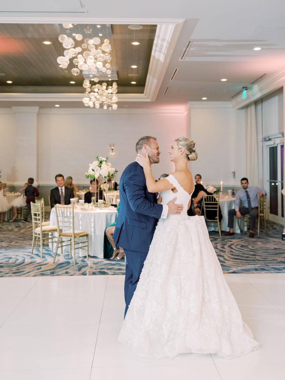 Florida Bride and Groom First Dance as Mr and Mrs | Tampa Bay Wedding DJ Grant Hemond and Associates | Wedding Venue Hyatt Regency Clearwater Beach