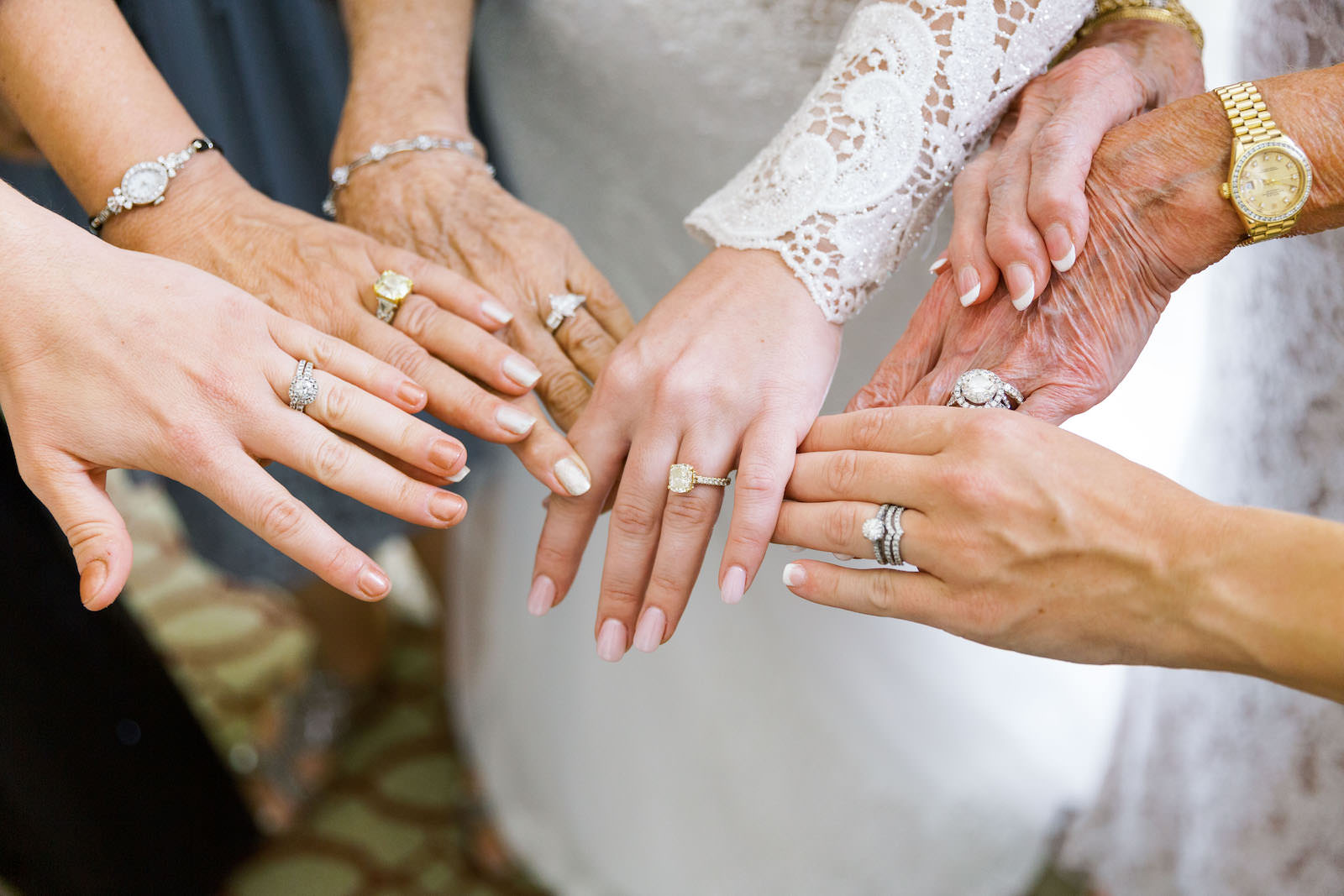 Bride Generation Photo Showing Hands with Rings