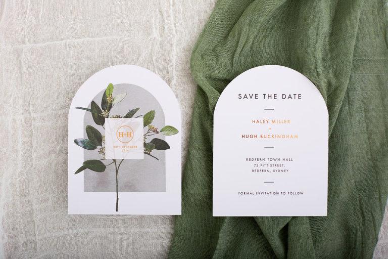 Save-the-Date Greenery Garden Wedding Invitation Stationery Ideas | Paperlust