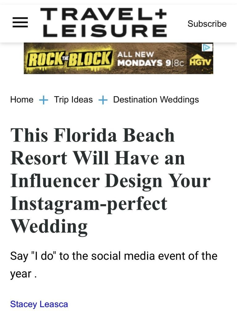 St. Pete Beach Wedding Venue Bellwether Beach Resort Styled with Love Influencer Designed Wedding by Marry Me Tampa Bay Travel + Leisure Article
