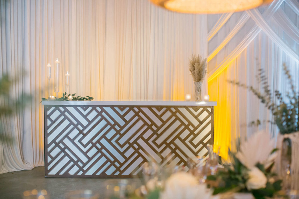 Modern Gold Bar | Styled With Love at St. Pete Beach Wedding Venue Bellwether Beach Resort