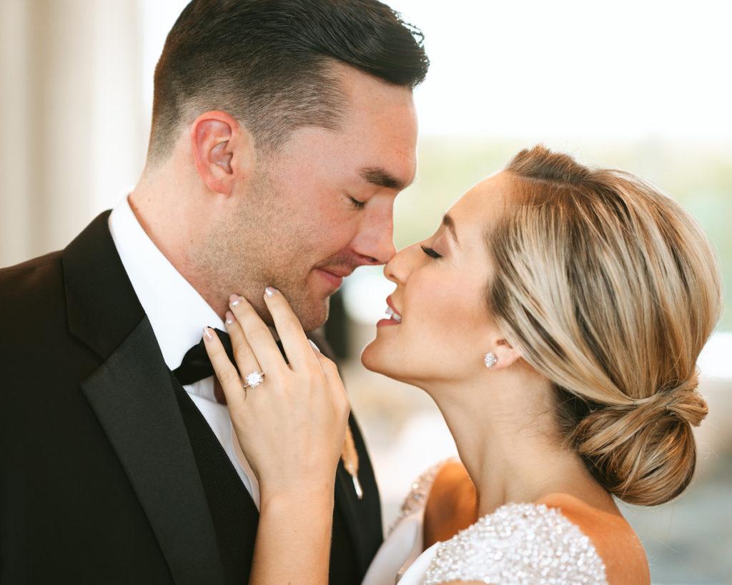 Bride and Groom Wedding Portrait | Photographer and Videographer Bonnie Newman Creative | Ring International Diamond Center
