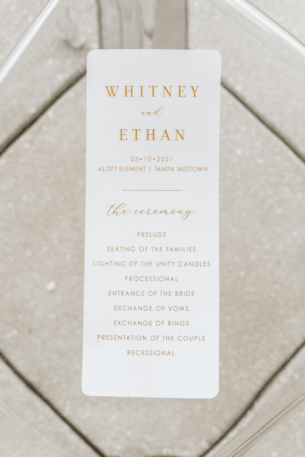 Organic Boho Modern White and Brown Wedding Ceremony Program