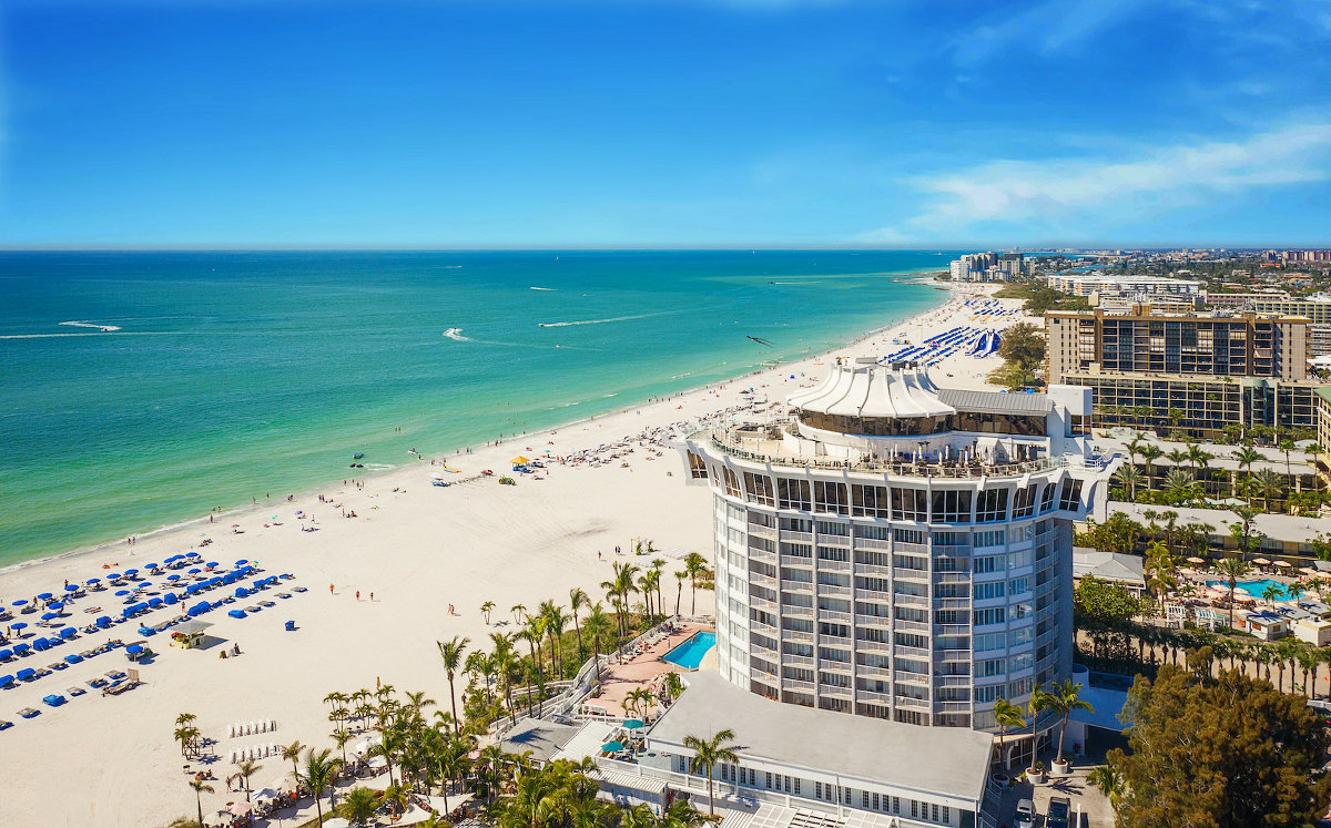 St. Pete Beach Wedding Venue Bellwether Beach Resort Aerial View