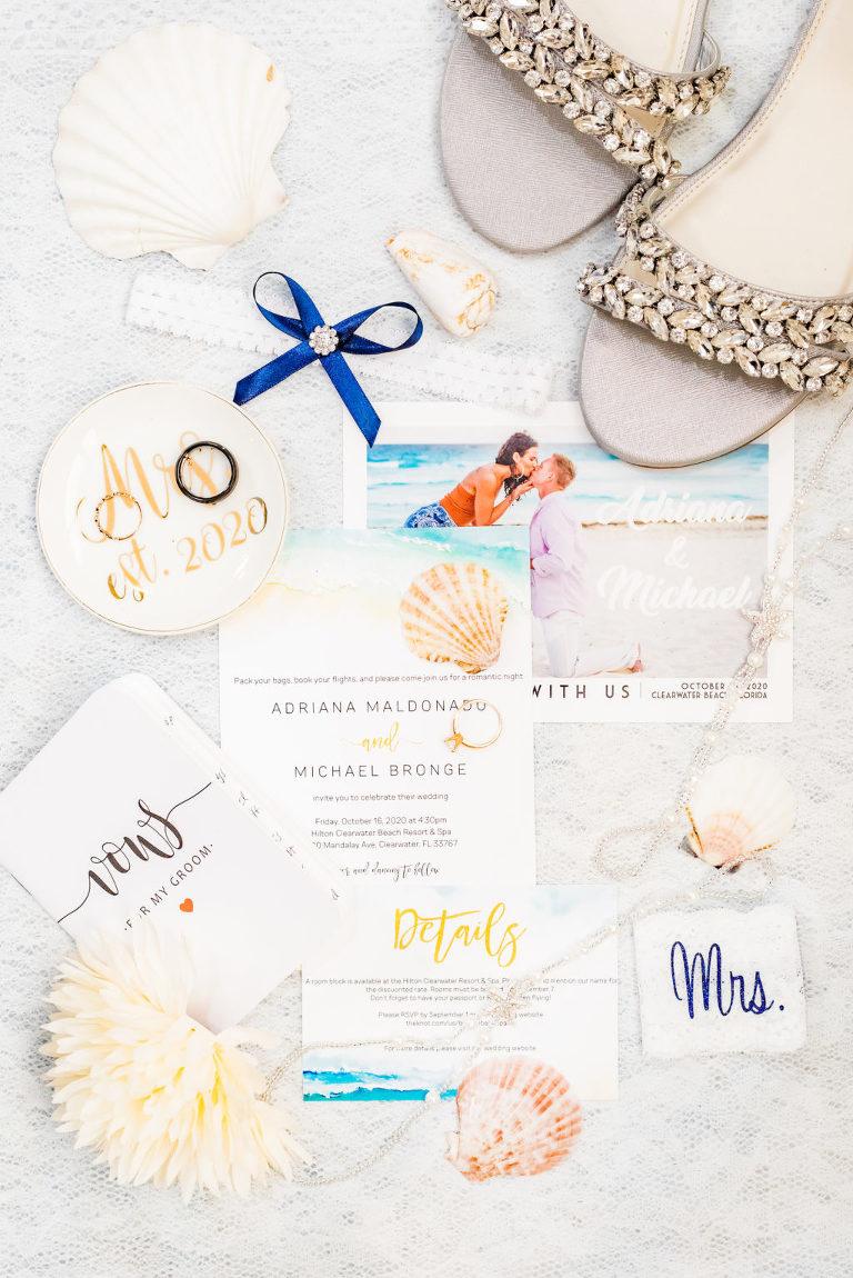 Tropical Wedding Invitation Suite, Bridal Accessories, Chunky Rhinestone Wedding Shoes