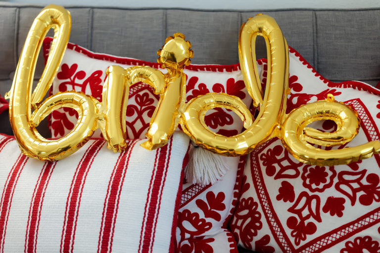 Gold Bride Foil Balloon Wedding Decor | Tampa Bay Wedding Photographer Limelight Photography