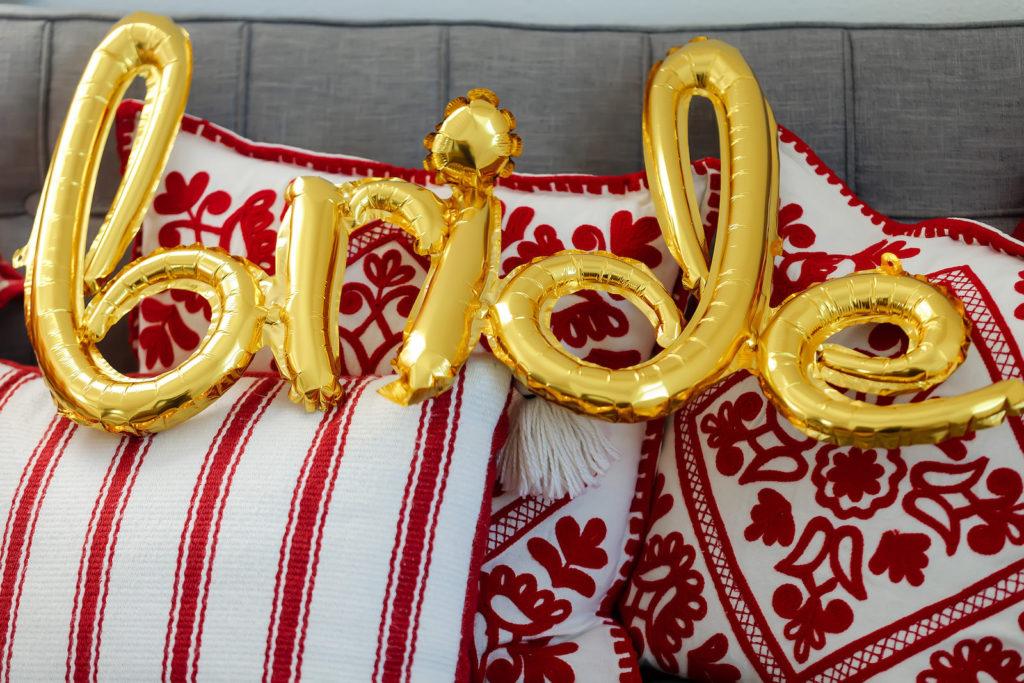 Gold Bride Foil Balloon Wedding Decor   Tampa Bay Wedding Photographer Limelight Photography