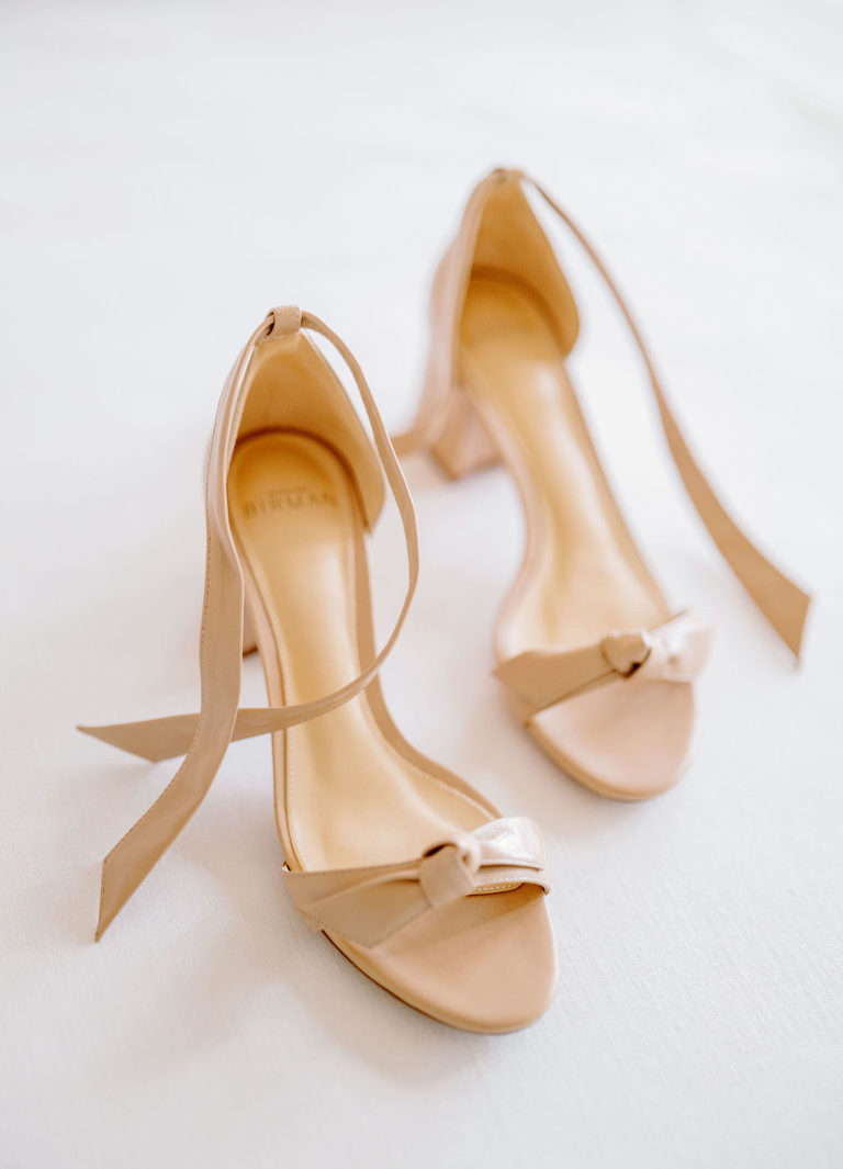 Nude Sandal Strappy Bride Wedding Shoes