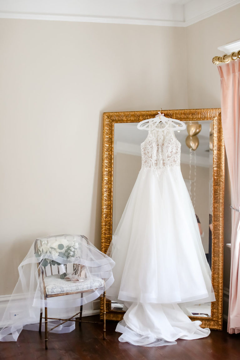 Lace and Illusion Scoop Neckline and Tulle Ballgown Wedding Dress | Tampa Bay Wedding Photographer Lifelong Photography Studio