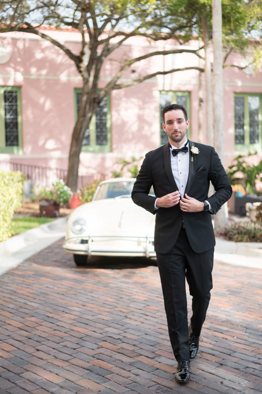 Elegant Classic Groom in Black Tuxedo and Bow Tie | Tampa Bay Wedding Photographer Carrie Wildes Photography