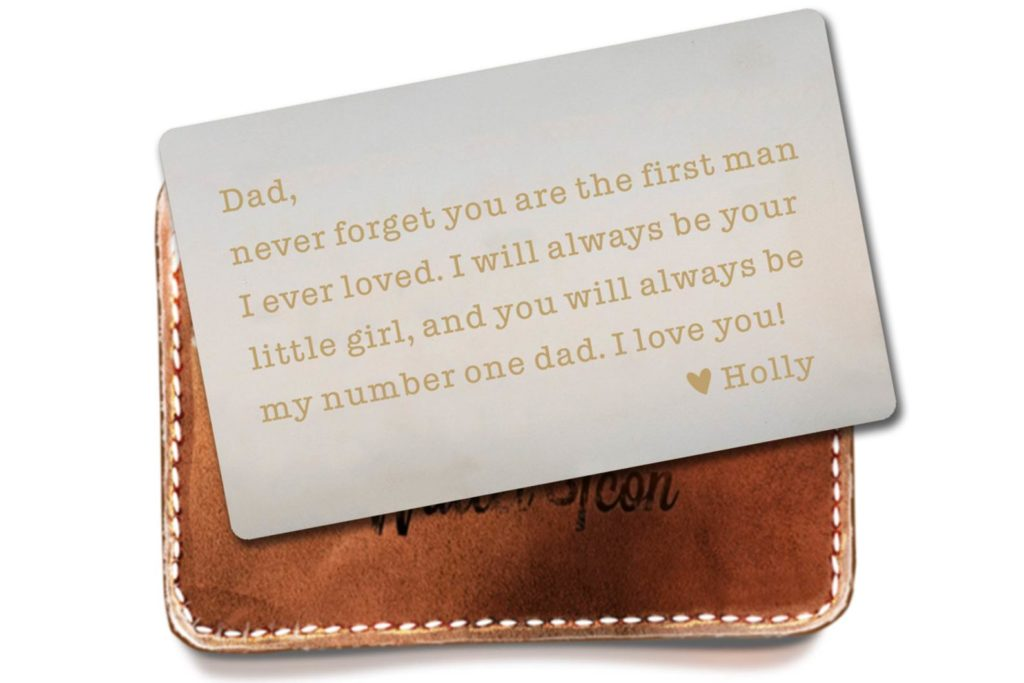 Personalized Wallet Insert Wedding Gift for Father's Day