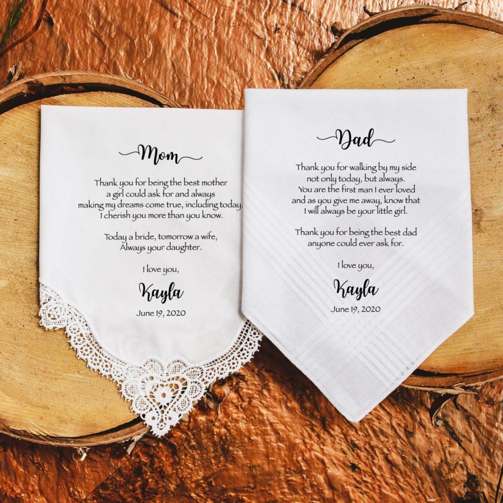 Personalized Wedding Handkerchief | Etsy