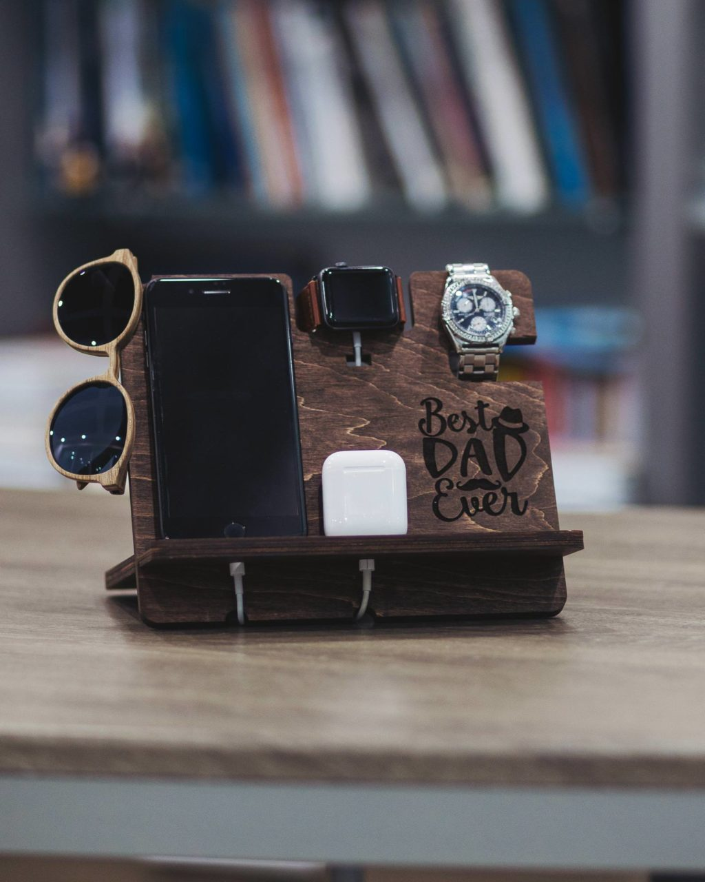 Father's Day Wedding Gift Cell Phone Charging Station Etsy